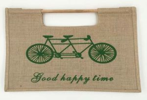Wooden Handle Shopping Bag Jute Bag pictures & photos