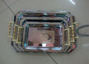 3PCS Set High Quality Stainless Steel Tray pictures & photos