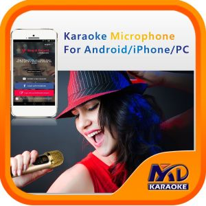Karaoke Microphone for Andriod iPhone PC, Exclusive Function: Original Songs Vocal on/off