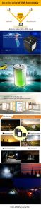 Wonderful Design Solar Lantern LED Lighting System Desk Light with USB Charger pictures & photos