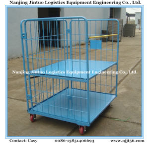 Heavy Duty Warehouse Storage Wire Mesh Pallet Container with Traction pictures & photos