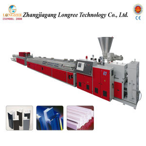 WPC Profile Extruder/Wood and PVC Profile Machine/WPC Floor Production Line pictures & photos