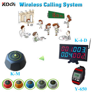 Electronic 3-Digit System Customer Buzzer Beeper Service pictures & photos