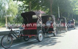 3wheeled Human Power Rickshaw Passenger Tricycle pictures & photos