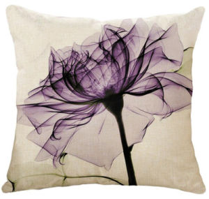 Cotton&Linen Natural Style Polyester Padding Cushion Oil Painting Flower Cushion pictures & photos