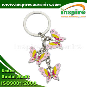 Zinc Alloy Butterfly Charm Keychain for Souvenir Gift (KC824) pictures & photos