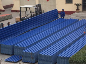 Trapezoidal Corrugated PVC Roofing Sheet pictures & photos