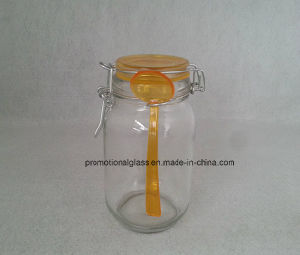 New Hot 400ml Sealing Glass Jar with Spoon