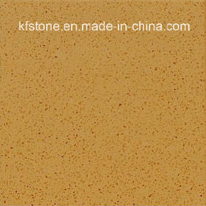 Simple Color Yellow Hotel Flooring Pure Artificial Stone Quartz Tile pictures & photos