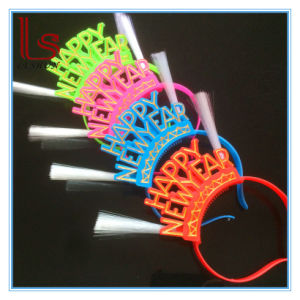Happy New Year Party Decoration Headband Hair Band Luminous LED Light Hair Hoop pictures & photos