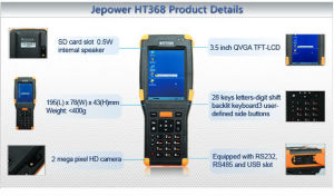 Jepower Ht368 Wince Rugged PDA Barcode Scanner Support Wi-Fi/3G/GPRS/RFID pictures & photos