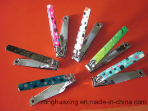 N-211bc CE Complicant Carbon Steel Nail Clipper with Nail File and Rubber Surface pictures & photos