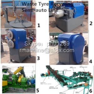 Semi-Auto Waste Tire Recycling Line, Tire Recycling Line pictures & photos