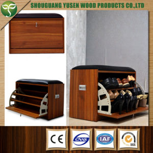 Customized Colors Wood Material Shoe Rack pictures & photos