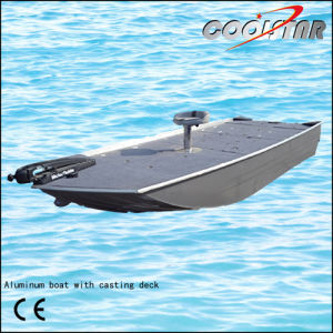 a-Type Good Shape Aluminum Fishing Boat with Casting Deck pictures & photos