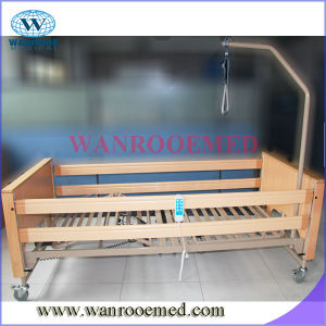 Bae509 Economic Home Care Nursing Bed with Metal Siderails and Lifting Pole pictures & photos