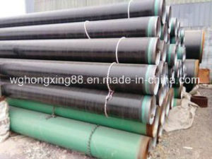 High Carbon Black Paint Coating ERW Welded Steel Pipe pictures & photos