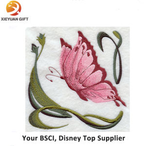 Exquisite Fine Detail Butterfly Embroidery Badge pictures & photos
