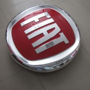 Vacuum Coating Plating Acrylic Company Auto Shop Car Logo Maker Round Car Logo for FIAT pictures & photos