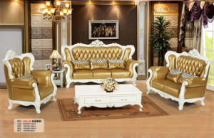High Quality Europe Style Upholstery Combination Leather Sofa (159) pictures & photos