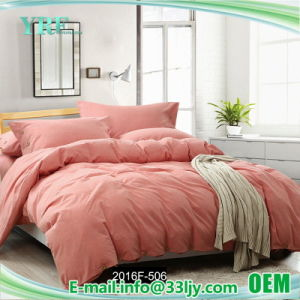 Durable Cotton Yellow and Orange Bedding for Apartment pictures & photos