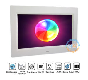 16: 9 High Resolution 1024*600 10 Inch Picture Frame Digital (MW-1011DPF) pictures & photos