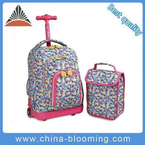 Kids′ Rolling Backpack Trolley School Bag with Lunch Bag pictures & photos
