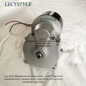 24V 250W 180rpm DC Reduction Geared Motor on Wheelchair & Golf Cart & Mower Machine pictures & photos