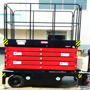 Hydraulic Semi Electric Scissor Lift Table (Max Height 7.5m) pictures & photos