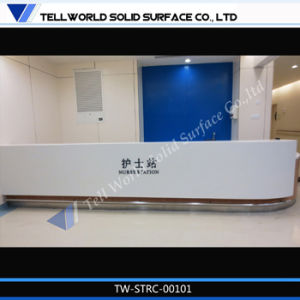 Financial Company Luxury Reception Counter Desk pictures & photos