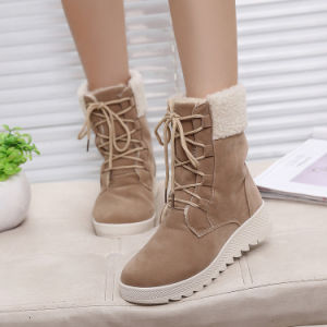 Autumn and Winter New British Plus Thickening Martin Boots Warm and Leisure Female Cotton Boots Wholesale pictures & photos