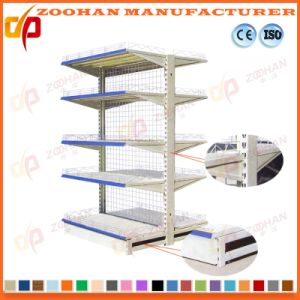 Gondola Double Sides Supermarket Wire Back Display Stand Shelf (ZHs658) pictures & photos