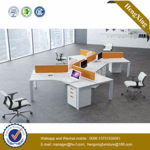 Melamine Office Partition 6 Seats L Shape Workstation (HX-NJ5038) pictures & photos