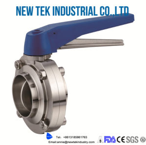 Stainless Steel Manual Welded Sanitary Butterfly Valve pictures & photos