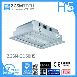 Embedded 50W LED Canopy Light 120lm/W Philips SMD 3030 Chip pictures & photos