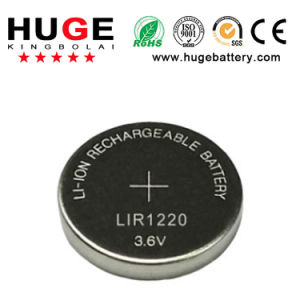 3.6V Rechargeable Li-ion Button Battery Lir1220 pictures & photos