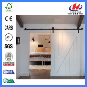 Interior Sliding Closet Pocket Wooden Wood Barn Door (JHK-SK07) pictures & photos