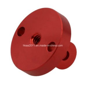 CNC Turning Parts, Custom Precision Medical Red Anodized Aluminum Parts pictures & photos