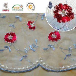 F011 Multi Color Embroidery Mesh Lace Fabric Chemical Lace pictures & photos