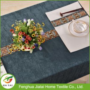 Custom Polyester Hand Embroidery Flower Design Table Cloth