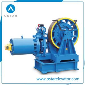 Vvvf Geared Lift Traction Machine for Small Passenger Elevator (OS112-YJ140) pictures & photos
