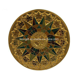 Customized Gold Metal Souvenir Military Army Coins with Special Edge pictures & photos