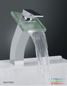Waterfall Basin Mixer with LED Light/S-003A