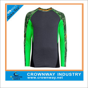 Long Sleeve Compression Dry Fit Running Shirt with Sublimation Printing pictures & photos