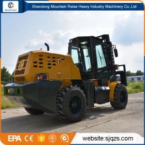 3500kg Capacity All Rough Terrain Forklift with Block Clamp pictures & photos