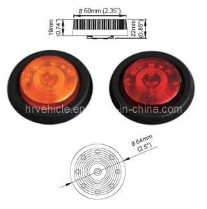 "2.5"" Round LED Marker and Clearance Light for Trailer pictures & photos"