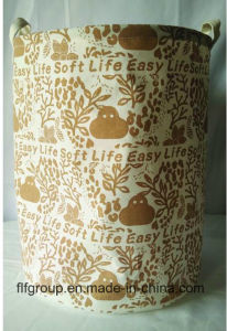 Eco-Friendly Customized Durable Foldable Fabric Storage Basket for Laundary pictures & photos