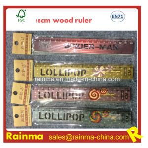 18cm Wooden Ruler with Stencil and Artwork Print pictures & photos