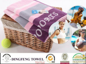 2015 Hot Sales 100% Cotton Jacquard Sport Tennis Towel Df-7891 pictures & photos