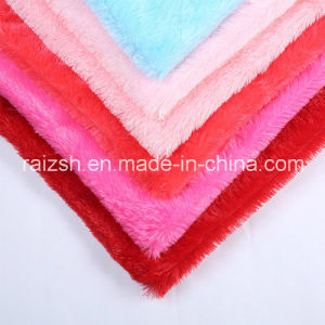 Bright Color Pile Knitting Fabrics PV Fleece with Cheap Price
